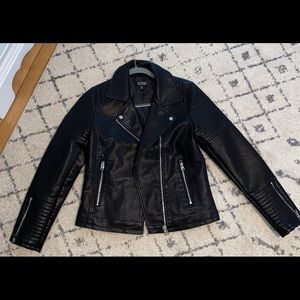 Topshop Faux Leather Moto Jacket